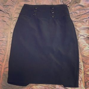 BCX Black Pencil Skirt Size 1